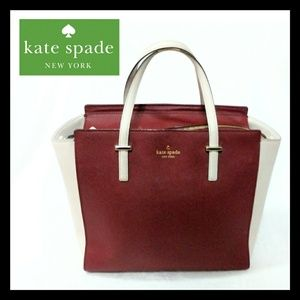 Kate Spade Rasberry Blush Pink Color Block Tote